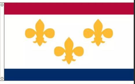 Drapeau extérieur personnalisé de 3 x 5 de la nouvelle-orléans avec nimporte quel drapeau de bannière de passe-temps de ventilateur de sport 90x150cm