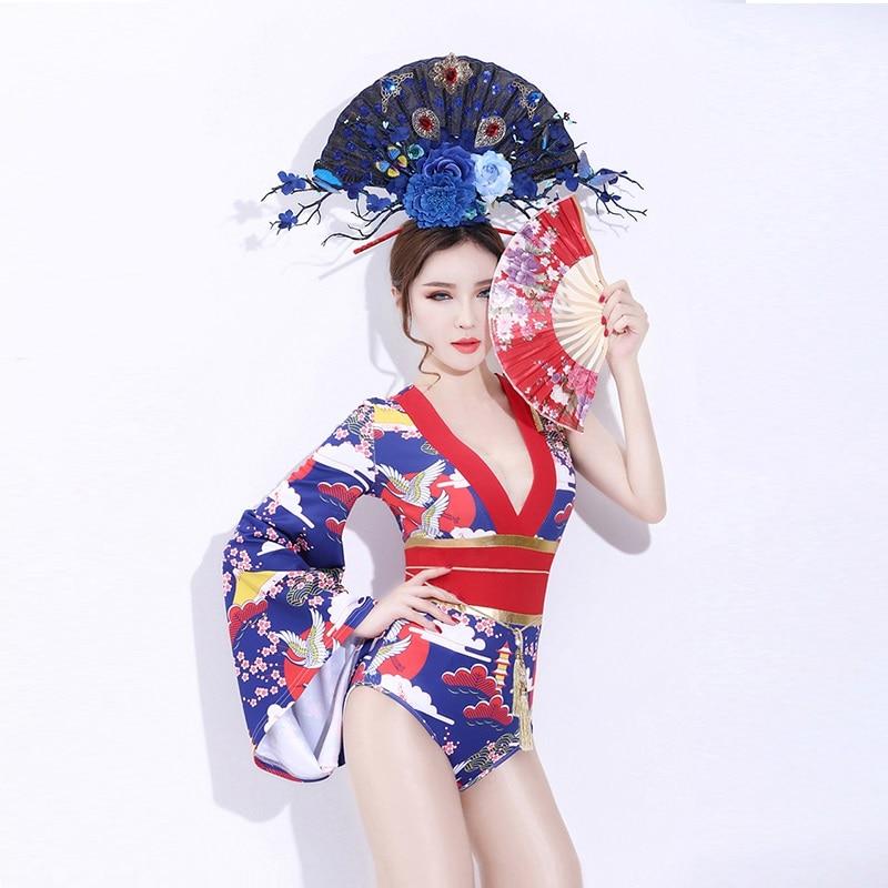 Trajes de Cosplay DJ cantante Retro Cheongsam Cos ropa Bar DS Geisha actuación Sexy baile Club Gogo traje, SC26