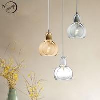Nordic modern minimalist glass E27 pendant lights art lighting for living room dining room bedroom restaurant cafe hotel room