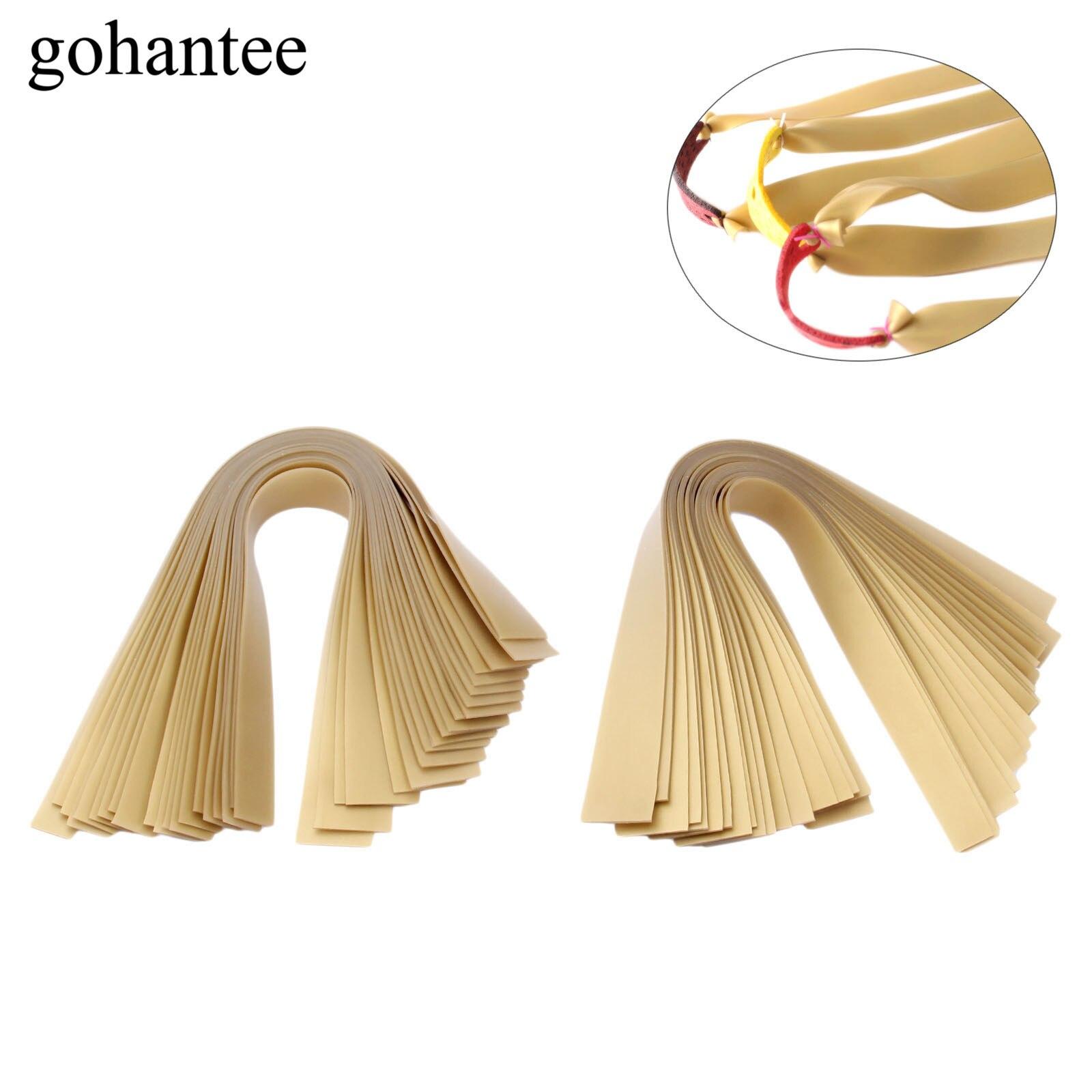 20Pcs 0.7mm/0.8mm Thickness*25cm Length Slingshots Rubber Band Tube Golden Natural Latex Flat Rubber Band For Slingshot Catapult