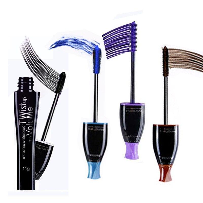4 colores elegir encanto maquillaje impermeable largo volumen máscara de pestañas duradero púrpura azul marrón negro cosméticos máscara para pestañas