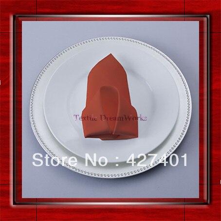 Alta qualidade 45 x 45 cm Terracotta Polyester Plain guardanapo / guardanapo / Hotel guardanapo / jantar guardanapo ( venda direta da fábrica )