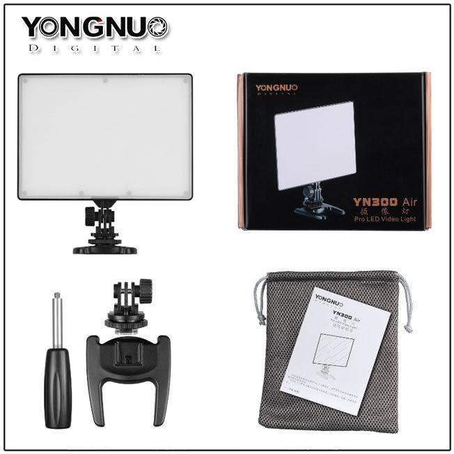 YONGNUO YN300 air YN-300 air yn 300 AIR Pro LED cámara de vídeo luz para Canon Nikon + NP-F550 batería + cargador