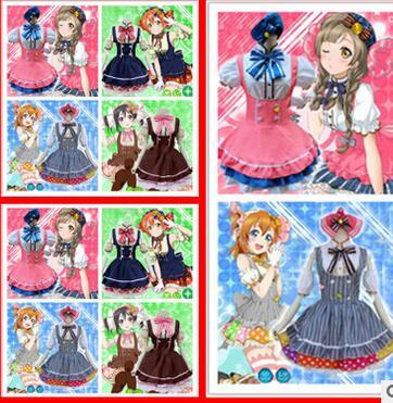 Lolita Dress Cosplay Costume one size Japanese Anime Love Live Tojo/ Umi/ Eli/ Hanayo/Nico/Rin Candy Maid Uniform Princess