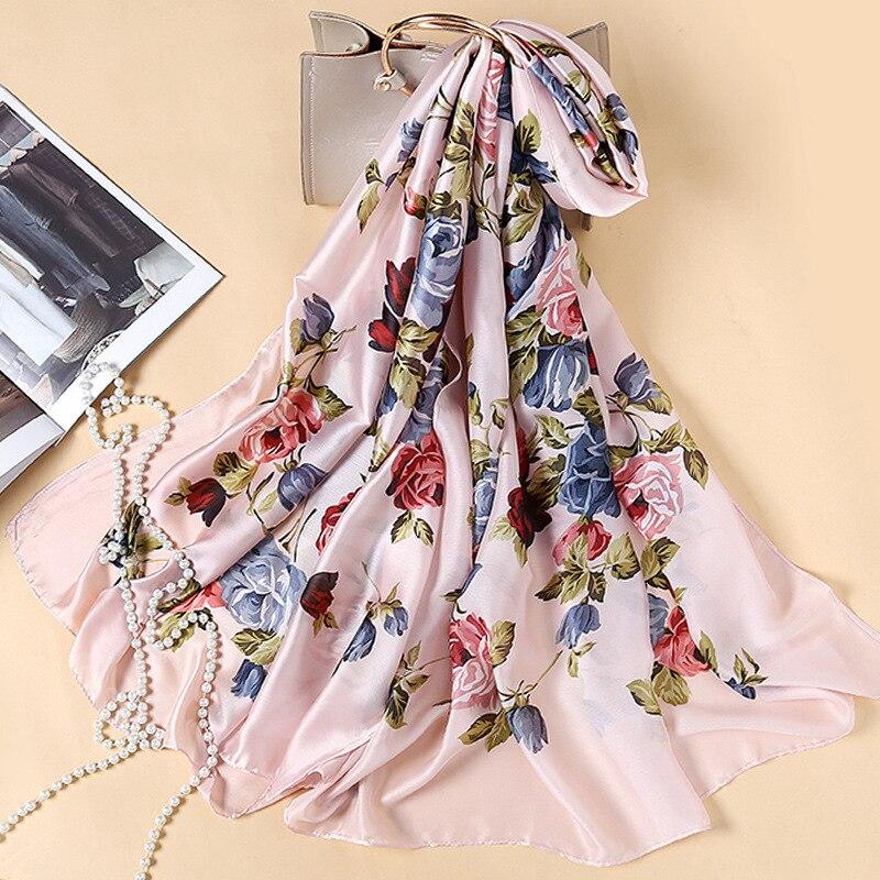 2018 Spring, Summer, Autumn and New Fashion Flower Elegance High-end Scarf Womens Decorative Shawl Sunscreen Beach