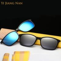 Поляризованные солнцезащитные очки с клипсой, оптическая оправа для очков, мужские очки Armacao de Oculos, женские и мужские очки по рецепту Oculos de о...