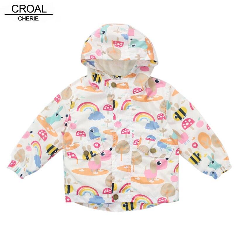 Chaqueta de otoño CROAL CHERIE para niñas moda Animal conejo estampado chaqueta de bebé cortavientos para niñas abrigo ropa de niños