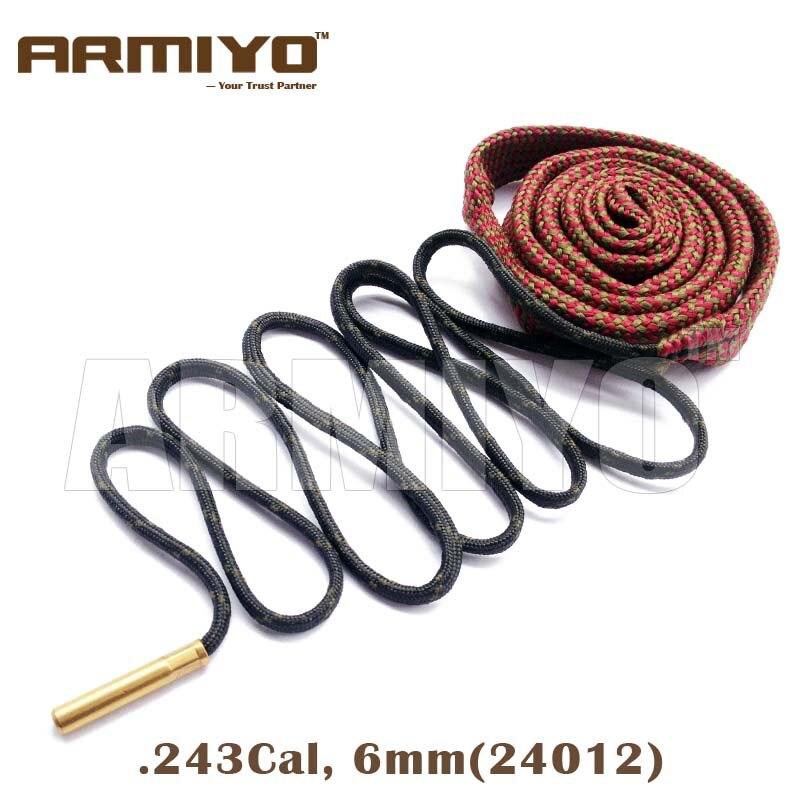Armiyo Bore Snake 6mm .243 Cal Gun Barrel Cleaning Kit 24012 Rifle Cleaner Rope Sling Hunting Shooting Accessories