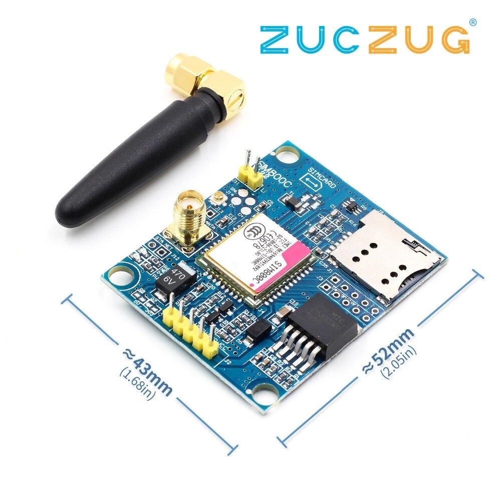 Placa de desarrollo SIM800C módulo GSM soporte mensaje Bluetooth TTS DTMF Quad-band