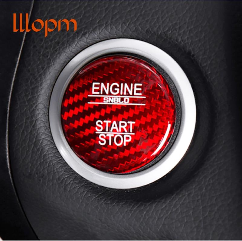 Para Mercedes Benz A B C GLC GLA CLA ML clase GL W176 W246 W205 X253 X156 C117 botón de arranque de motor Cubierta de fibra de carbono estilo de coche