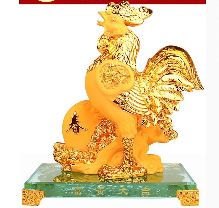 Sand gold animal tableware tiger rabbit snake horse sheep monkey rooster dog pig craft decoration large home statue sculpture