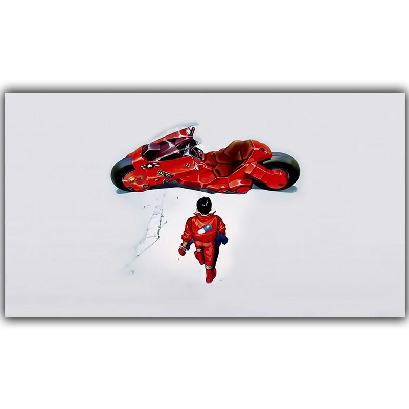 Afiche de lucha roja Akira, Popular Anime clásico Japonés, decoración del hogar, póster de seda, impresión, decoración de pared, 30x53cm 50x89cm