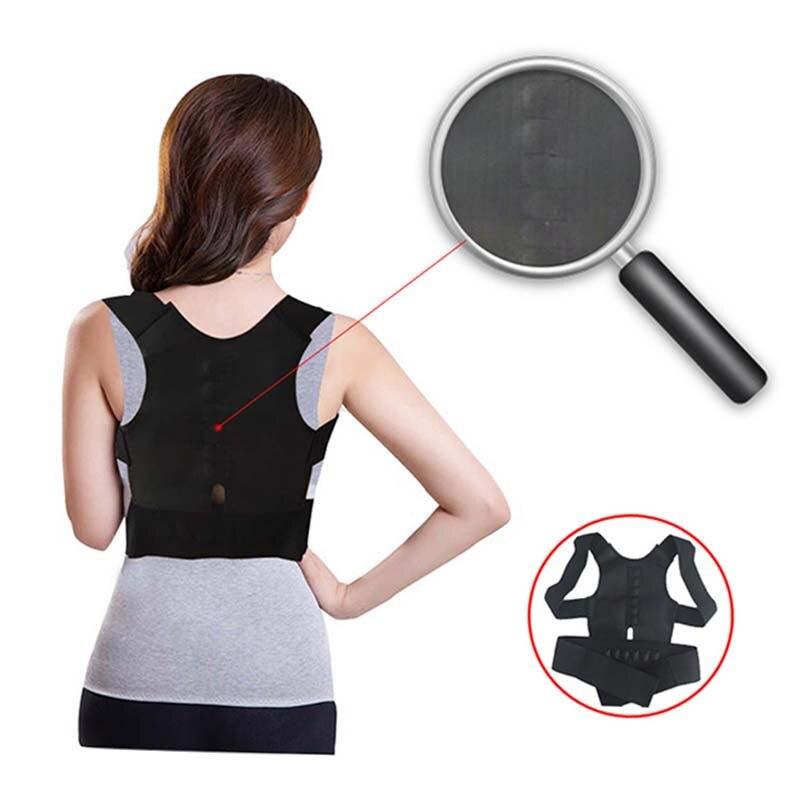 Corrector de postura magnético ajustable para hombre y mujer, corsé Corrector de tirantes para espalda correa de espalda, soporte Lumbar, Corrector recto de espalda