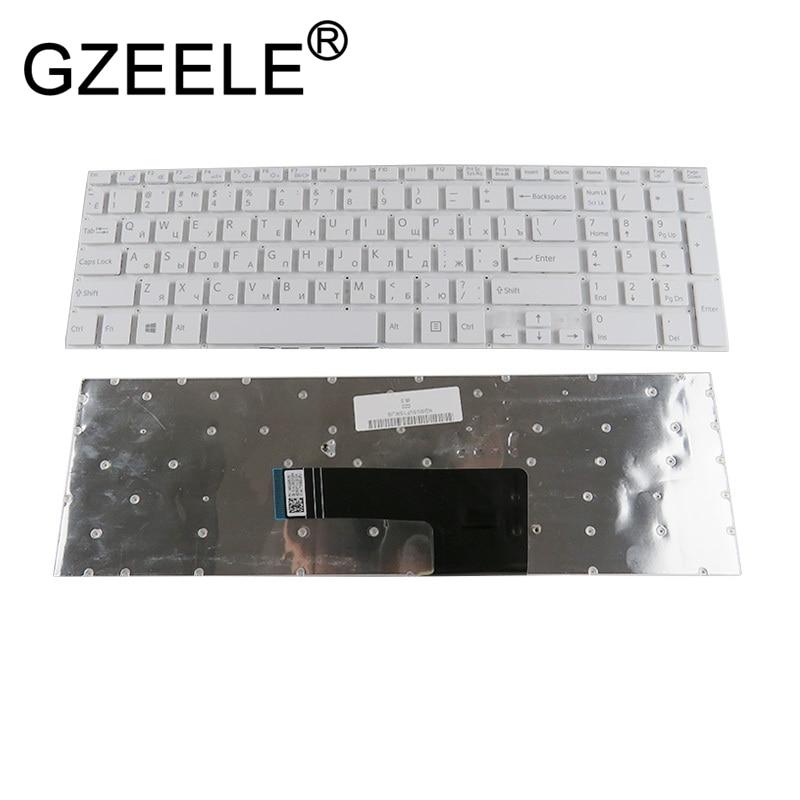 GZEELE Новая русская клавиатура для Sony VAIO svf152c29v подходит 15 SVF152A29V SVF152A29M SVF15A SVF15E SVF153A1YV белый ноутбук RU