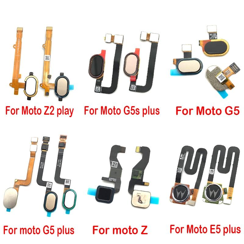 10 sztuk/partia dla Motorola Moto E4 E5 G4 G5 Plus czujnik odcisków palców przycisk home return przycisk menu Flex kabel taśmowy
