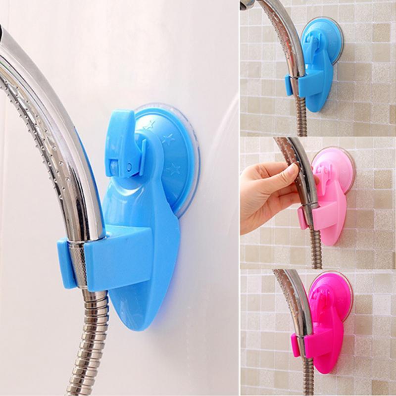 1Pc 360 Dgree Movable Shower Head Bracket Powerful Suction Bathroom Seat Chuck Rainfall Head Fixed Holder Bathroom Accessories