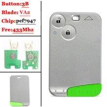 Большая скидка (2 шт./лот) отличное качество Green Blade 2 кнопки смарт-карты для Renault Laguna с pcf7947/7926 чип 433 МГц