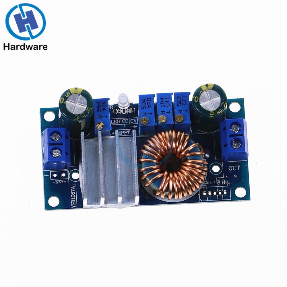 Controlador de painel solar de tensão constante, DC-DC 5a de corrente constante mppt 6-36v para 1.25-32v módulo de carregamento de passo para baixo