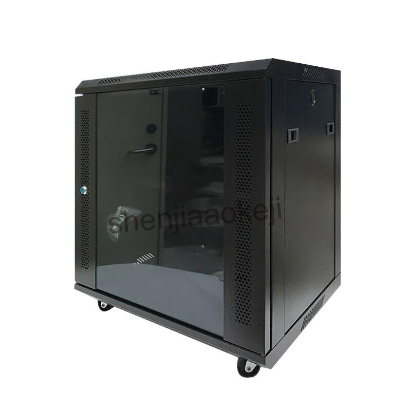 Armário de Parede-pendurado 12U-Frio chapa de aço laminada a + pulverizador eletrostático gabinete armário de parede do gabinete de rede 220 V (50Hz) 1 pc
