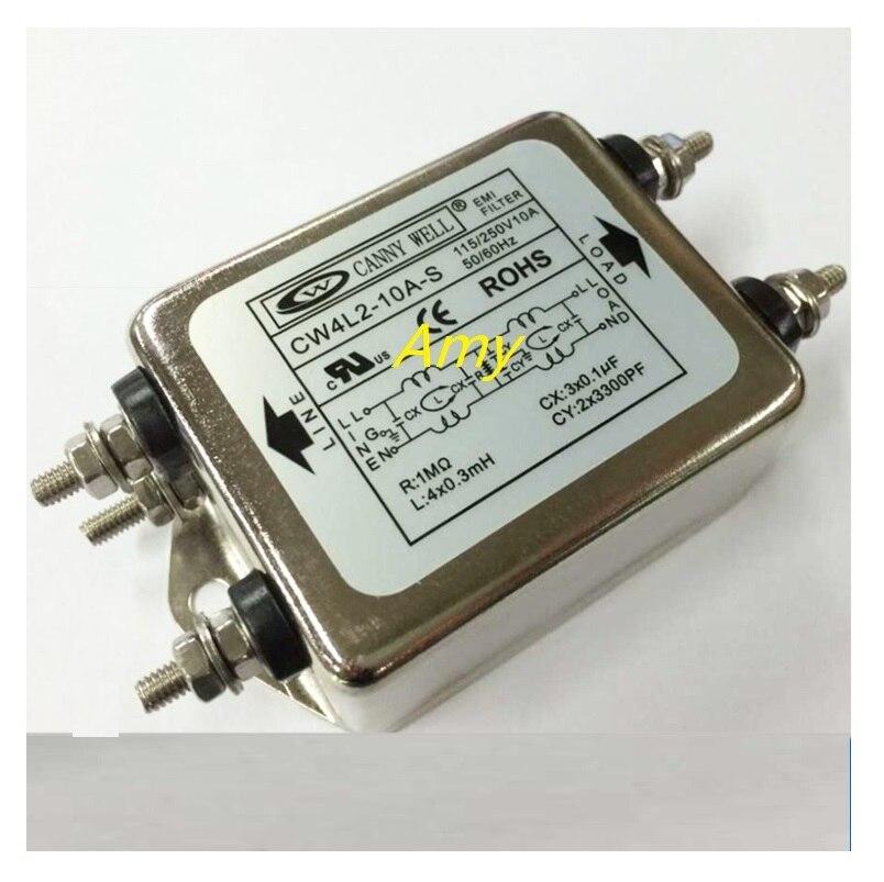 Тайваньский фильтр электромагнитных помех CW4L2 10A 20A S, двухступенчатая дезактивация, однофазный 220 В