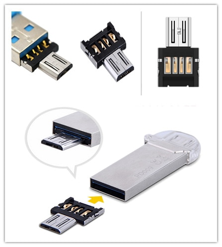 10pcs For Xiaomi HTC Samsung HuaWei Phone Tablet Mini USB Flash Disk U Disk 5pin Micro USB OTG Cable Adaptor Adapter Converter