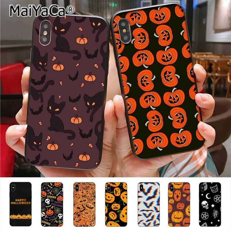 Maiyaca para abóbora halloween bat bruxa boo caso de telefone para iphone11 pro max 8 7 6 s plus x xs xr xs max 5 5S se caso