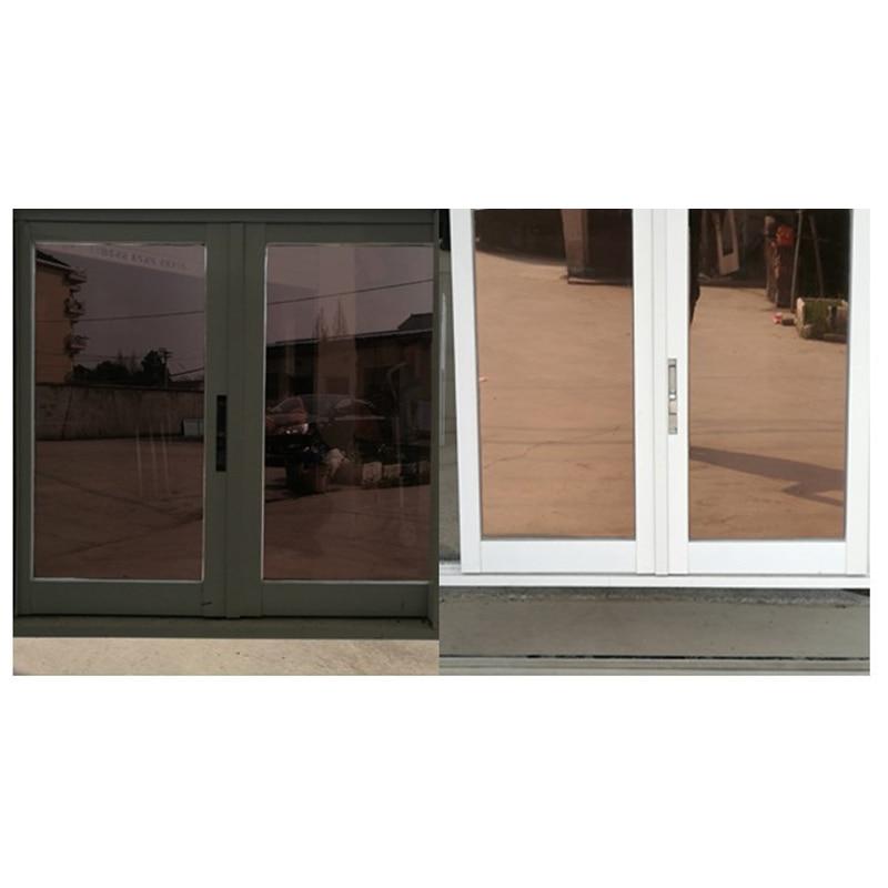 Односторонняя зеркальная термопленка для окон, дневная тонировка, статическая, неклейкая, декоративная, термоконтроль, защита от УФ-лучей, ...