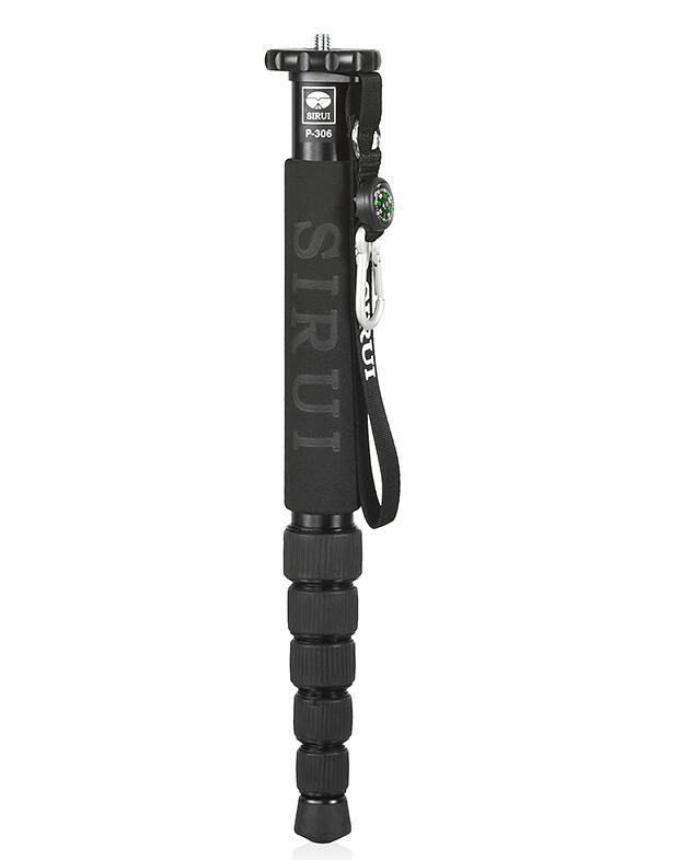 Sirui p306 P-306 monopod 전문 알루미늄 휴대용 삼각대 카메라 6 섹션