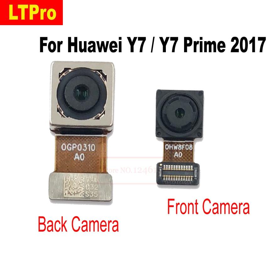 LTPro haute qualité arrière principal arrière grande caméra petite caméra frontale flex câble ruban pour Huawei Y7/Y7 Prime 2017 Nova Lite +