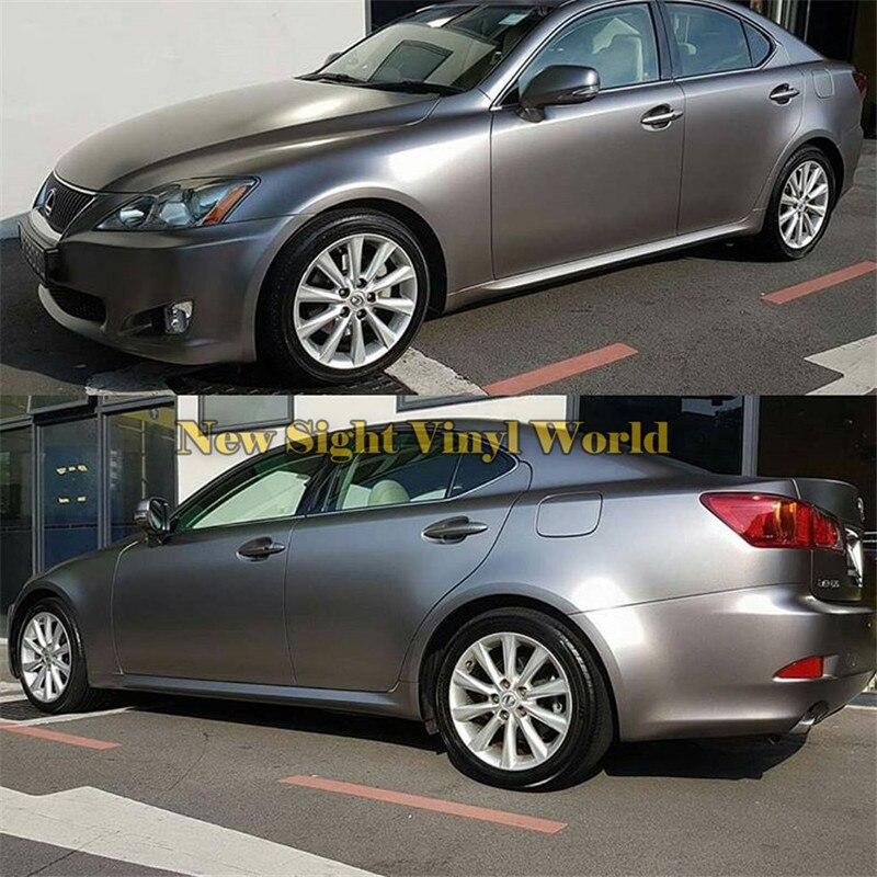 Best Quality Metallic Chrome Gunsmoke Grey Vinyl Film Car Body Wrap For Car Wrapping Bubble Free