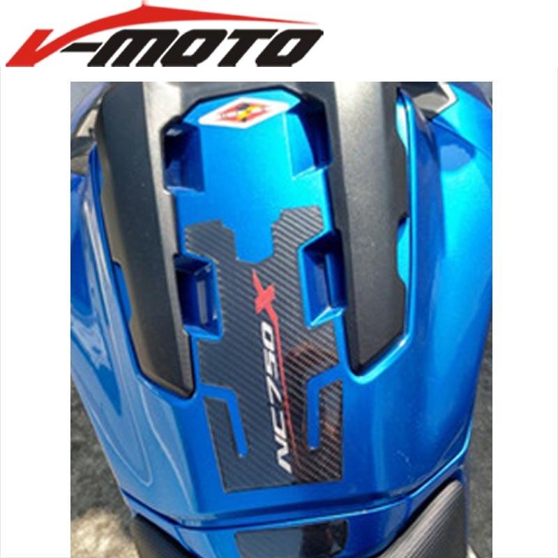 Gran oferta para HONDA NC700X NC 750X accesorios de la motocicleta de fibra de carbono de almohadilla para depósito de gasolina Tankpad Etiqueta de etiqueta engomada