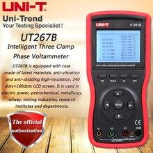 Voltammètre triphasé Intelligent de UNI-T UT267B, taux de détection de stockage de données de mesure de séquence de Phase