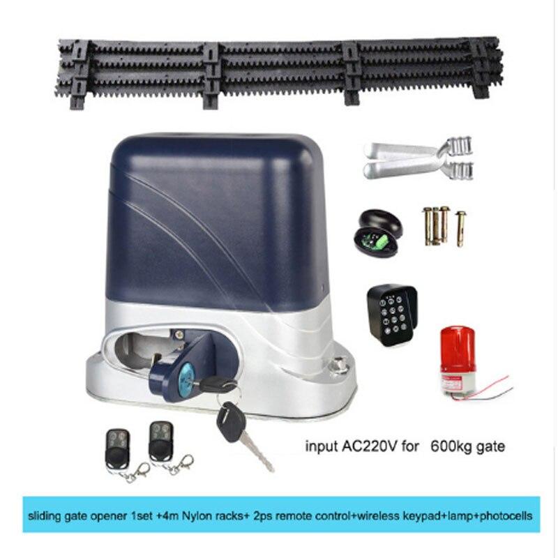 GALO optional Automatic electric slide gate opener door open motor + 2 remote + 4 m cogging