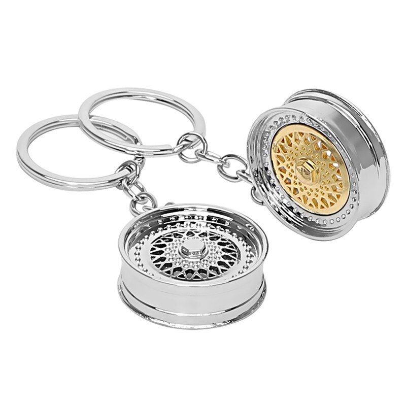 Fashion Key Ring 3D Miniature BBS Wheel Rim Model Keychain Popular Creative Car Auto Metal Mini Wheel Rim Tyre Key Chain