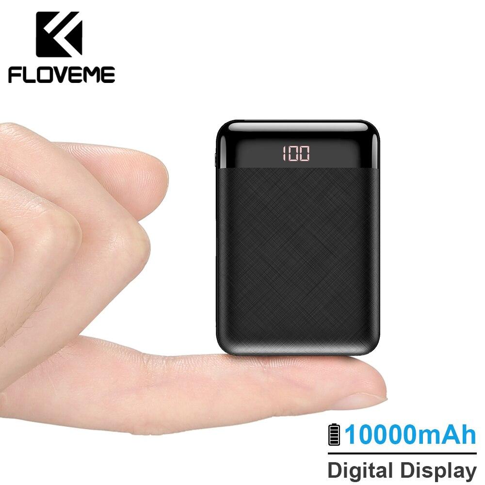 FLOVEME Мощность Bank 10000 mAh mi ni mi внешний аккумулятор внешнее зарядочное устройство для iPhone Xiaomi Внешний аккумулятор 2USB Комплекты внешних аккумуляторов Портативный Зарядное устройство
