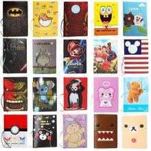 22 verschiedene arten von cartoon pass deckt. Kühlen jungen wie passport halter, reisepass halter, kreditkarte halter