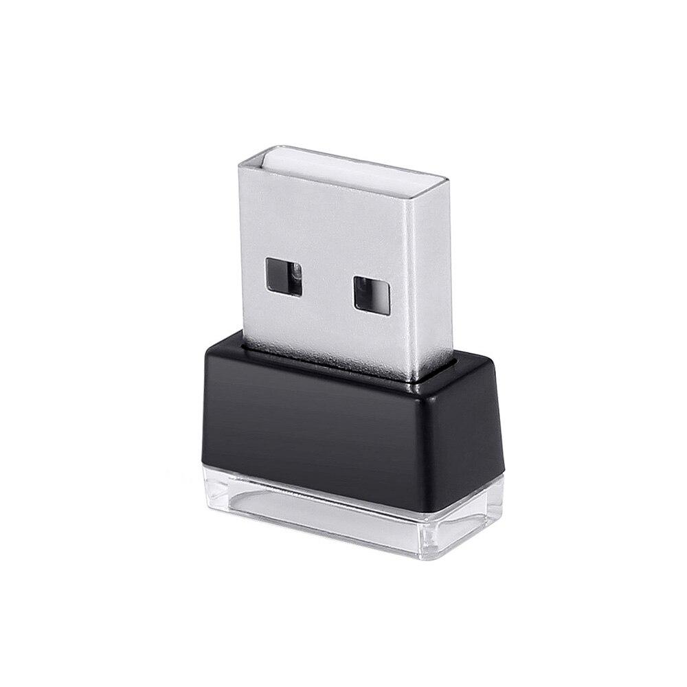 Miniluz de noche LED USB para mechero, luz Interior de Ambiente de coche, lámpara de pie, iluminación decorativa, 1 unidad