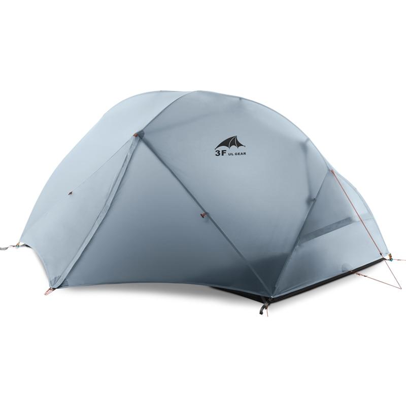 DHL frete grátis 2 Pessoa barraca de Camping Barraca 210T Tecido 15D Silicone Double-layer Barraca de Camping Leve
