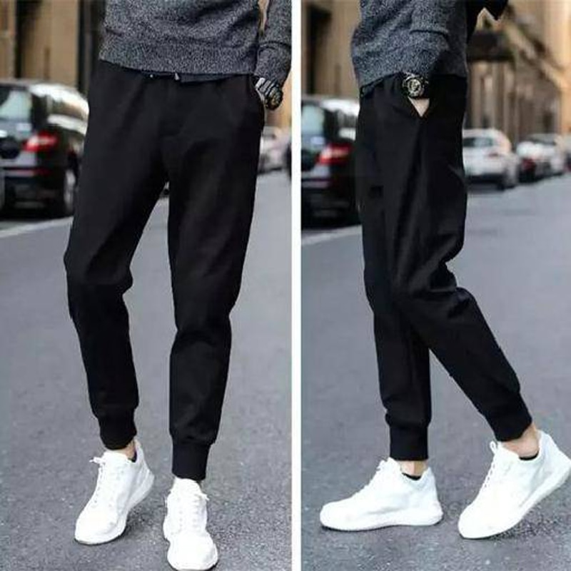 Jogger Pants Men Skinny Mens Track Pants Harem Streetwear Sweatpants Cotton Sportswear Elastic Waist Hip Hop Trousers Pants Men