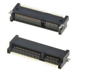 100 шт./лот 52Pin Mini Pcie коннектор 5,2 H может через пайки с оплавлением предоставить пакет библиотеки Бесплатная доставка в наличии
