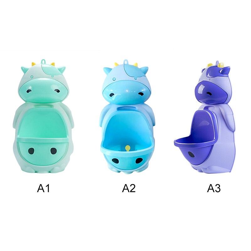 1pc Animais Vaca Dos Desenhos Animados Projeto do Bebê do Menino Parede-Montado Higiênico Potty Urinal Pee Instrutor Crianças Potty Training Wc stand