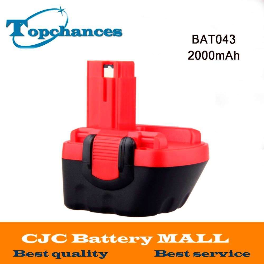 Высокое качество Новый 12 V 2000mAh Ni-CD аккумулятор для Bosch GSR 12 VE-2, 2000mAH NI-CD BAT043 BAT045 BTA120 26073 35430