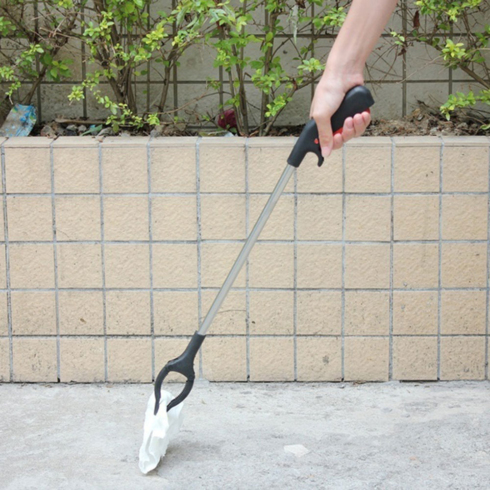 55cm Long Arm Litter Picker Rubbish Debris Picker Reaching Tool Grabber Up to 400g Black Pick Up Tools Reachers