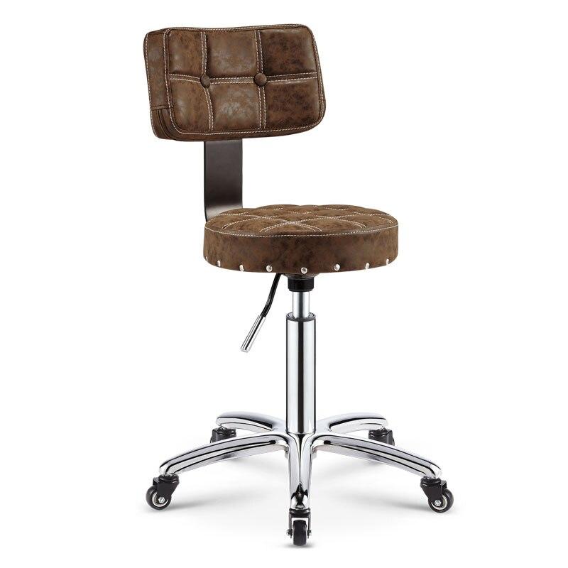 Регулируемый стул тележка парикмахерская барбершоп мебель для салона красоты стул для салона красоты парикмахерское оборудование кресло ...