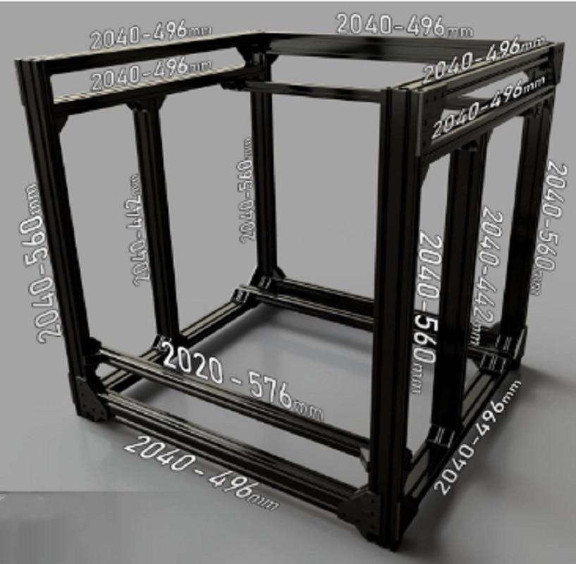 مجموعة إطار مكعب BLV Mgn ، مجموعة أدوات متوافقة مع طابعة CR10 ثلاثية الأبعاد ، إطار BLV ، DIY