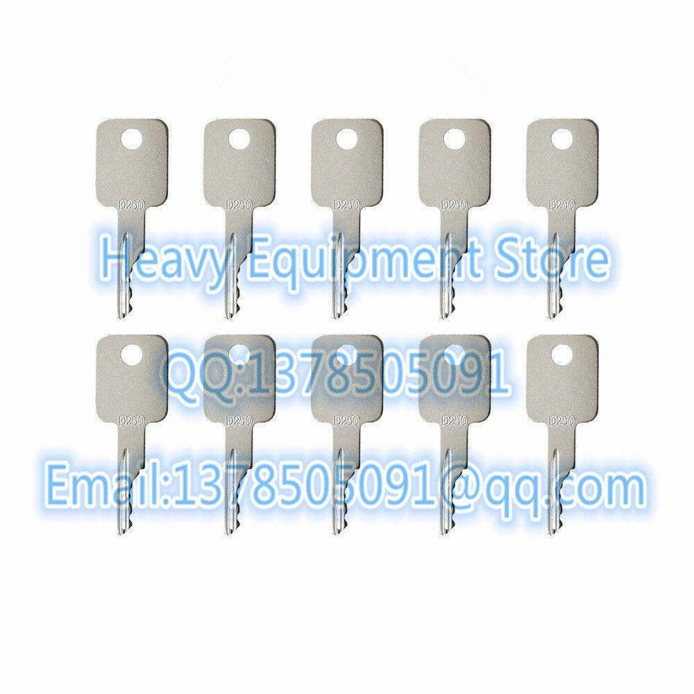 10 PCS D250 wyłącznik zapłonu klucz do Bobcat Case miniładowarki koparka 751 753 763 773 więcej 6693241