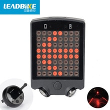 Leadbike Laser vélo lumière arrière 64 LED USB Rechargeable feu arrière avec télécommande sans fil vélo clignotants voyant davertissement de sécurité