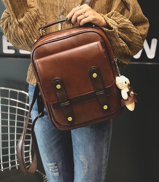 Женский рюкзак, Женский брендовый рюкзак, кожаный рюкзак в стиле колледжа, школьные рюкзаки, винтажный школьный рюкзак для студентов, ретро ...