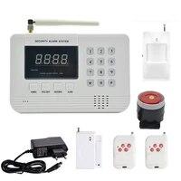 Systeme dalarme de securite domestique  433MHz  SIM  GSM  PSTN  double reseau  detecteur PIR  capteur de porte  anti-cambriolage