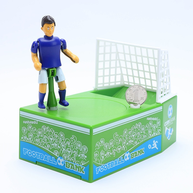 Hucha de fútbol creativa, hucha electrónica de juguete, portería de fútbol, juguete para niños, regalo